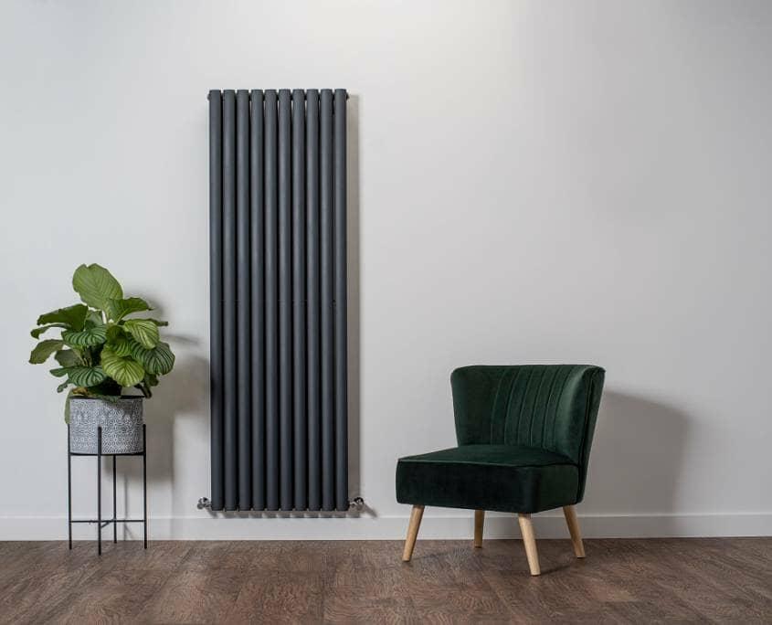 Milano Windsor anthracite vertical radiator