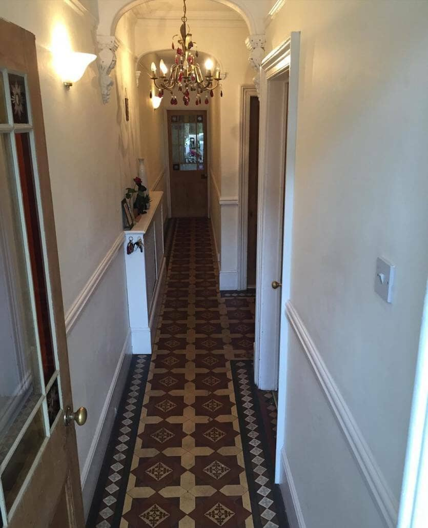 the victorian hallway before photo