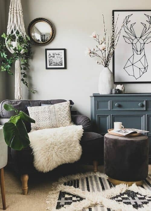 arm chair in a living room