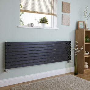 black horizontal designer radiator