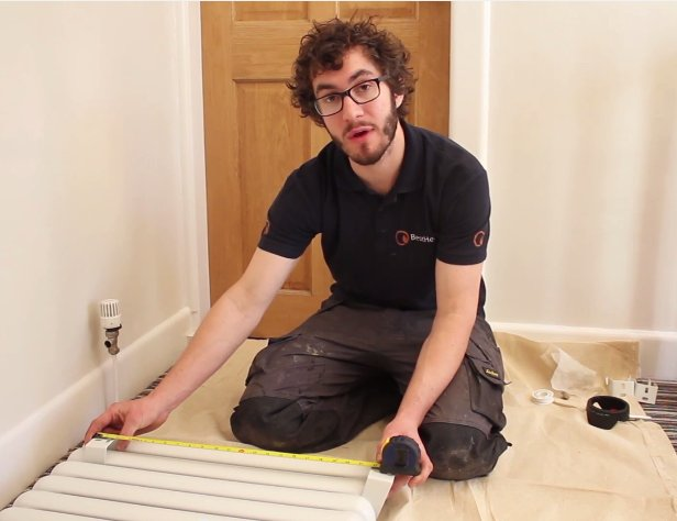 How to Install a Radiator_10_Radiator Height Measurement