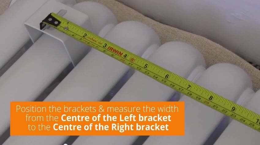 How to Install a Radiator_7_Measure Brackets 'Centre Left' to 'Centre Right'
