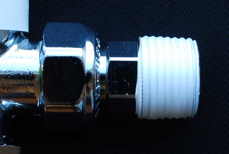 radiator valve with PTFE tape