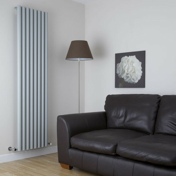 Vertical Radiator in a living room