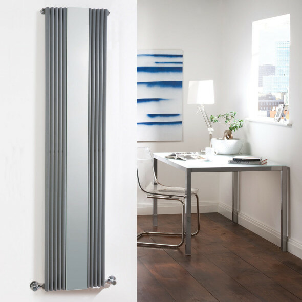 Mirrored designer radiator