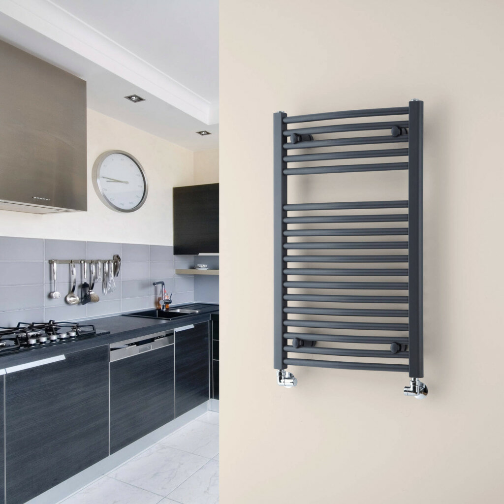 Towel warming kitchen radiator