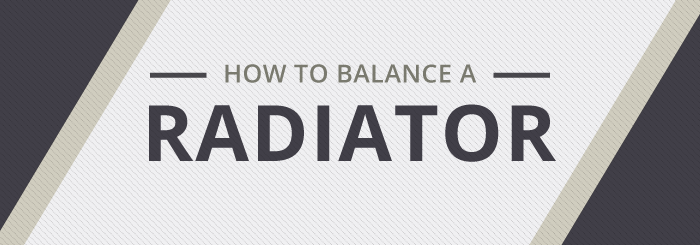 A guide to balancing a central heating radiator
