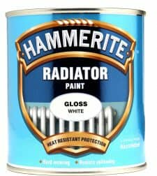 tin of white hammerite radiator paint