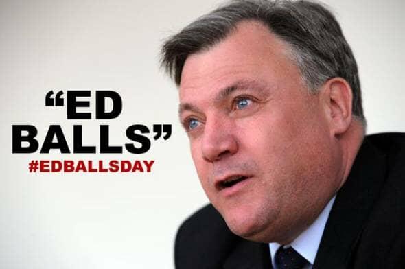 Ed Balls Looking at Ed Balls Day