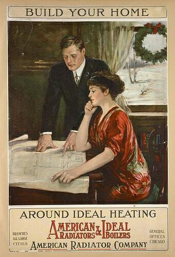Old american radiator company advert