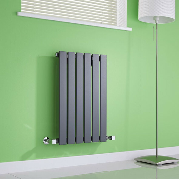 Milano Alpha radiator on a green background