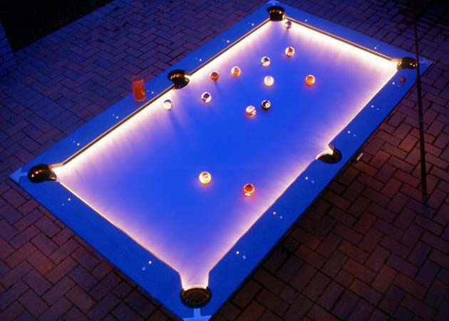 Illuminated pool table