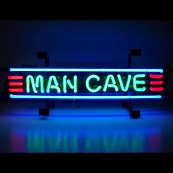 Neon Man cave signage