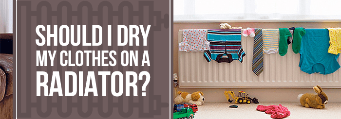 Drying clothes on a radiator