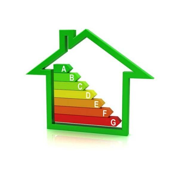energy efficiency in the shape of a house