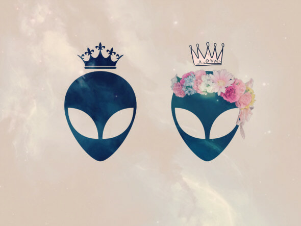 alien king and alien queen motif