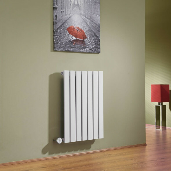 White flat panel electric radiator from Milano Heating
