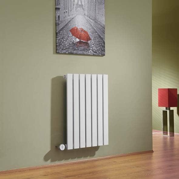 White flat panel electric radiator from Milano Heating
