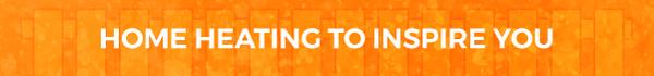 Find inspirational home heating orange banner