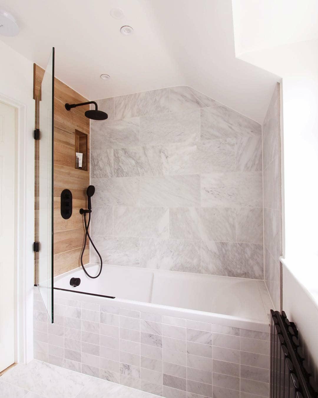 bathroom with black milano radiator