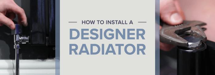 How to install a designer radiator blog banner