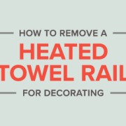Removing a towel radiator for decorating