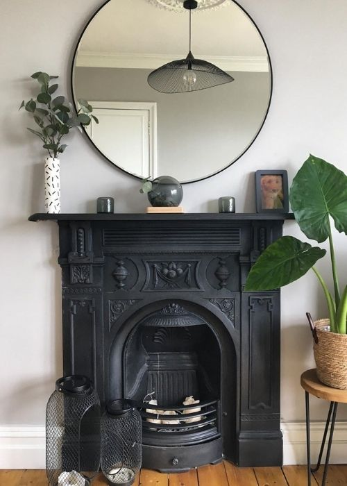 victorian style fire place