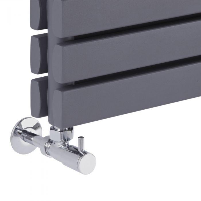 modern valves on a designer radiator