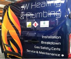 JW Heating & Plumbing van