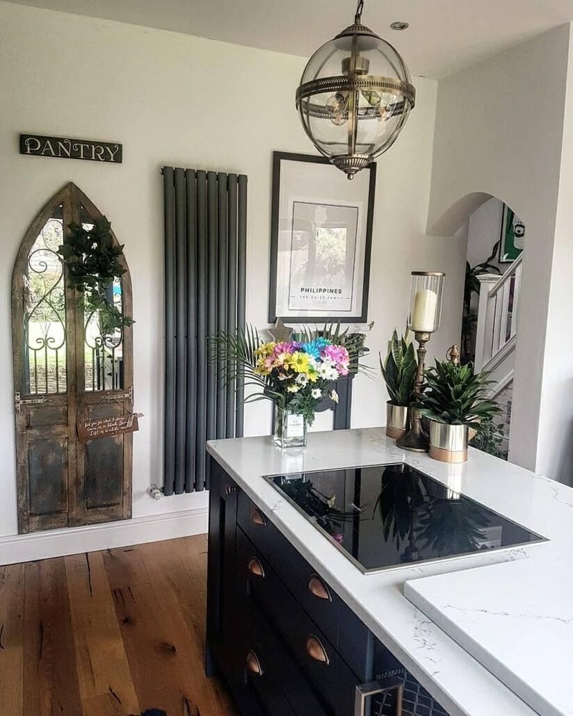 Milano Aruba radiator in a kitchen