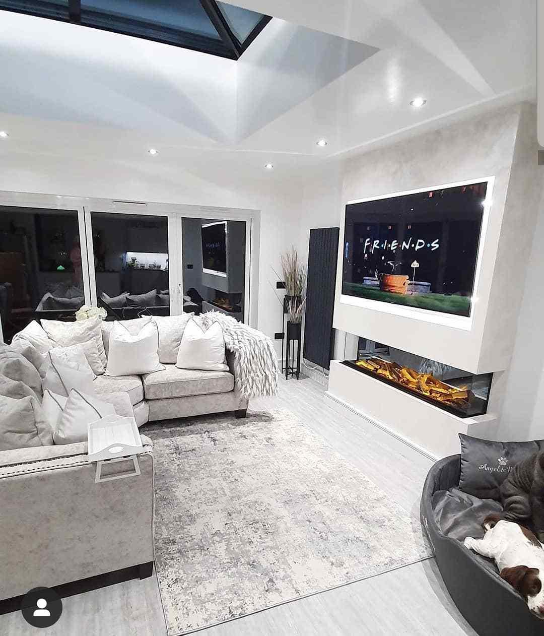 designer radiator in an open plan living room