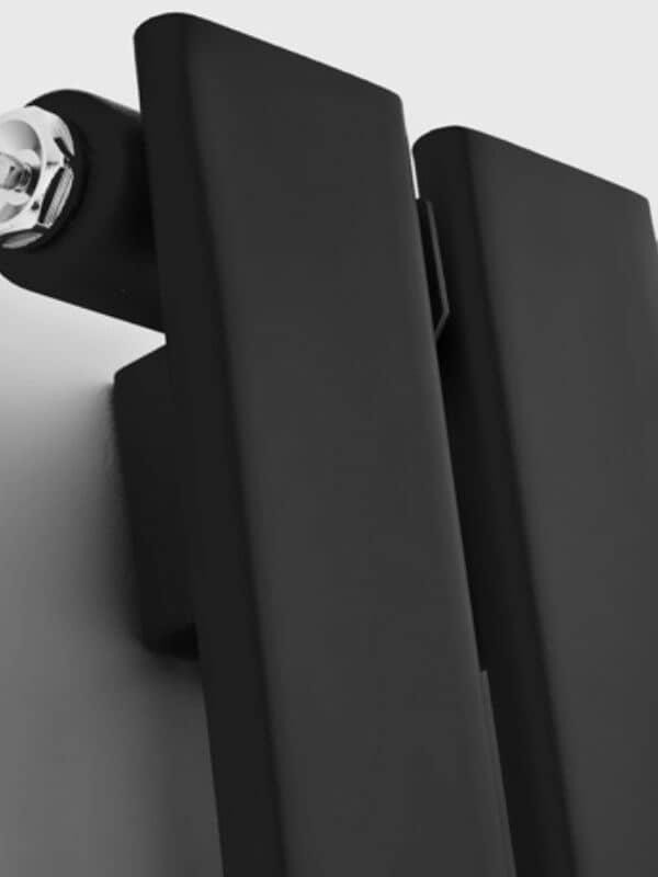 close up of a black radiator