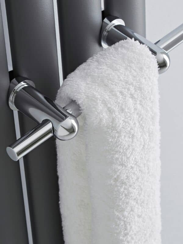 vertical radiator with a towel rail