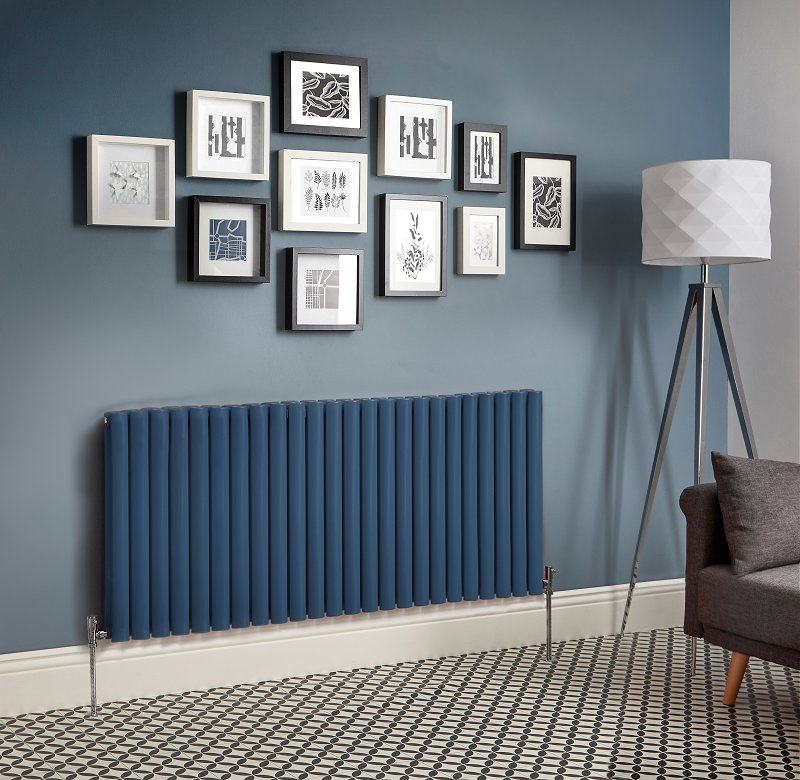 blue designer radiator