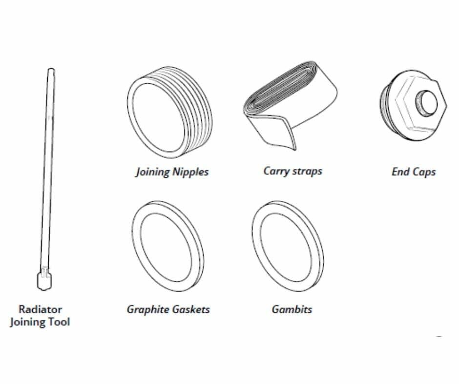 Cast Iron Radiator Tools Line Drawing