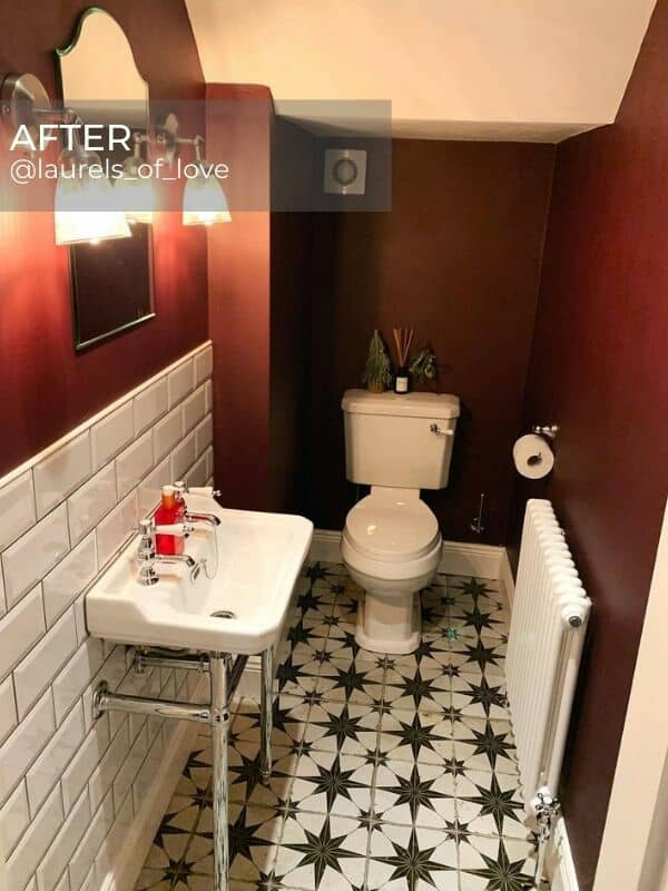 white column radiator in a period style bathroom after renovation