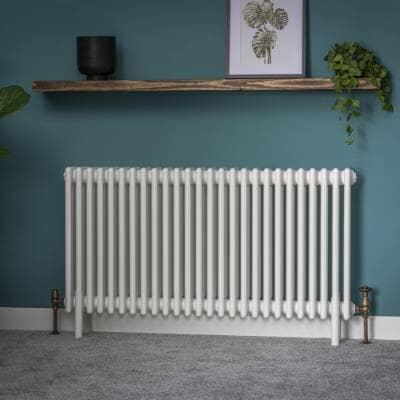 white milano windsor column central heating radiator