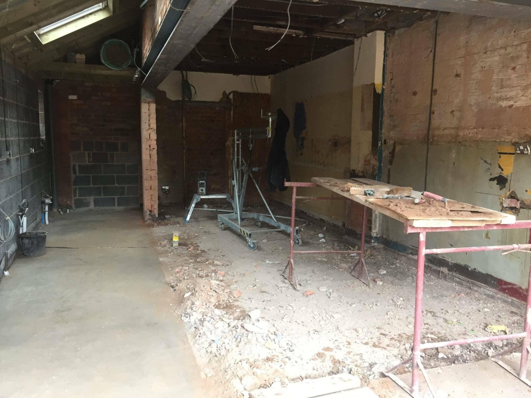 kitchen during renovation work