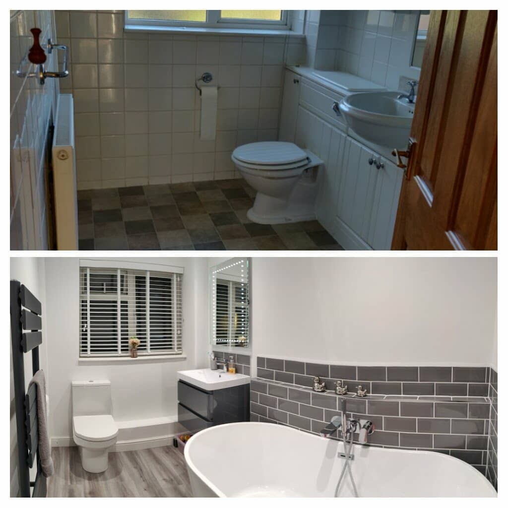 Kirsty Pearson - Cambridge before and after bathroom