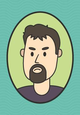 cartoon image of Jimmy Nail