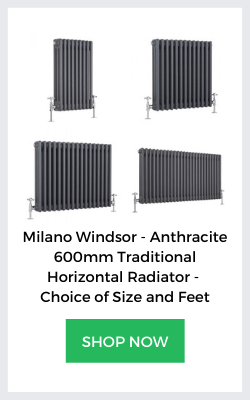 milano windsor anthracite column radiators