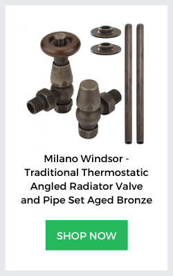 milano windsor bronze valve and pipe set