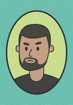 cartoon image of pop singer Craig David