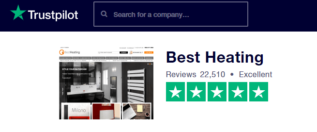 Best Heating trust pilot score