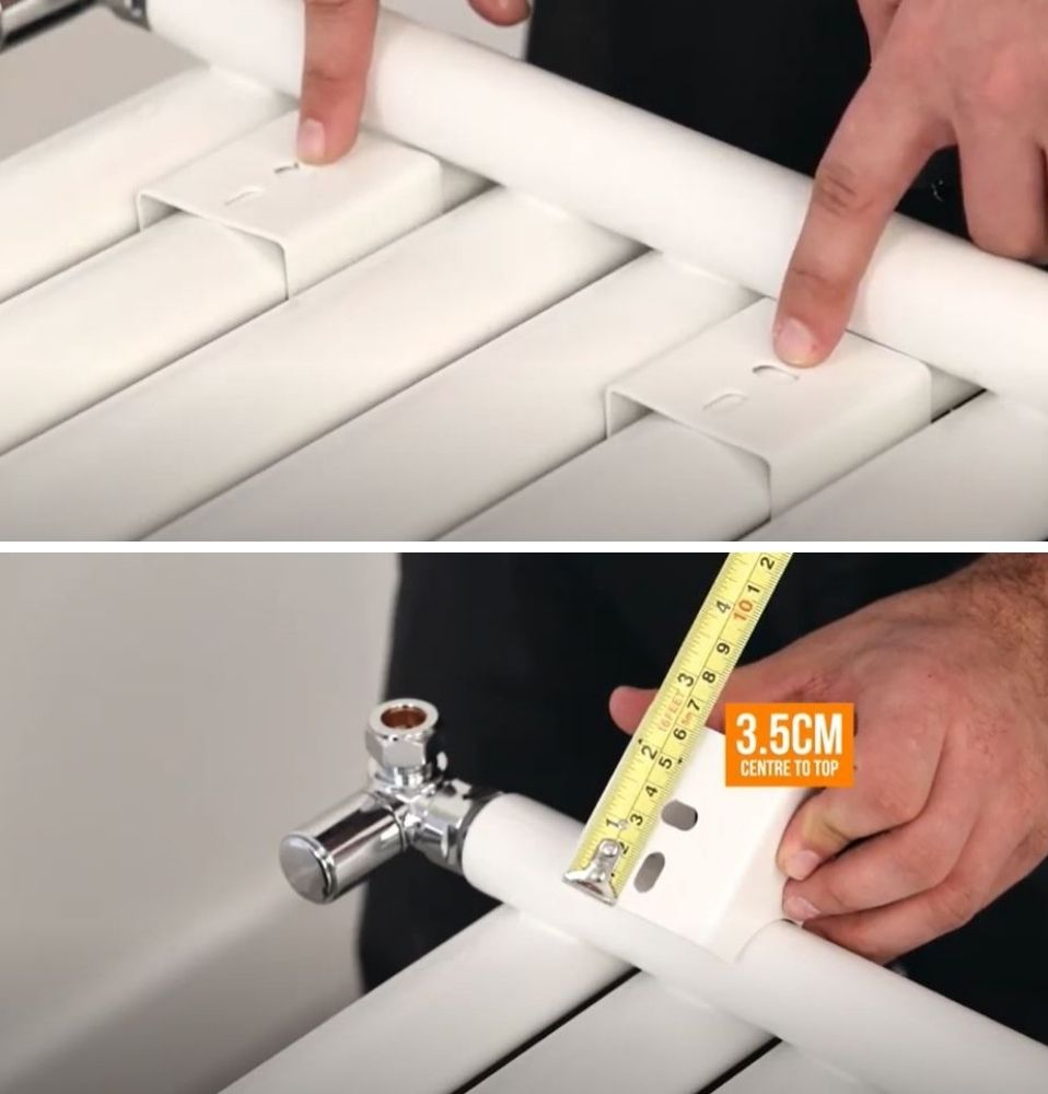 measuring radiator brackets