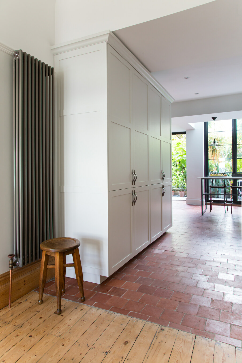 Milano Windsor vertical radiator in a kitchen