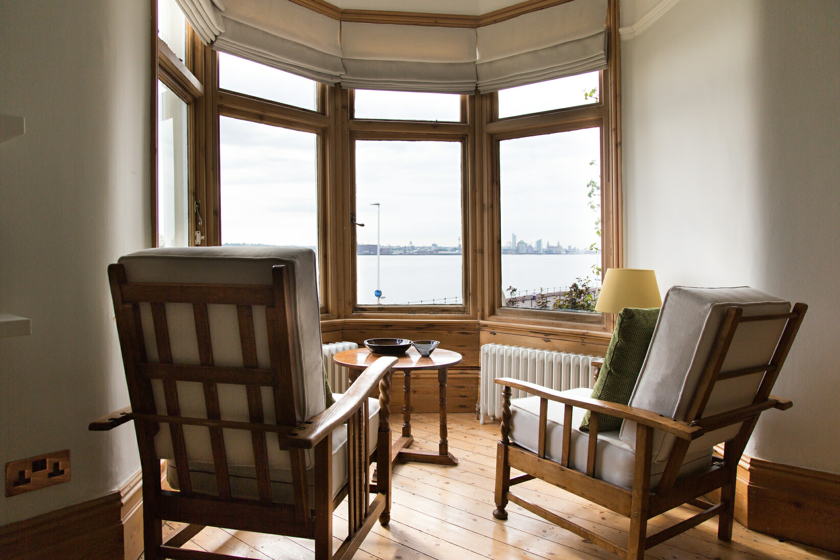 bay window with two chairs