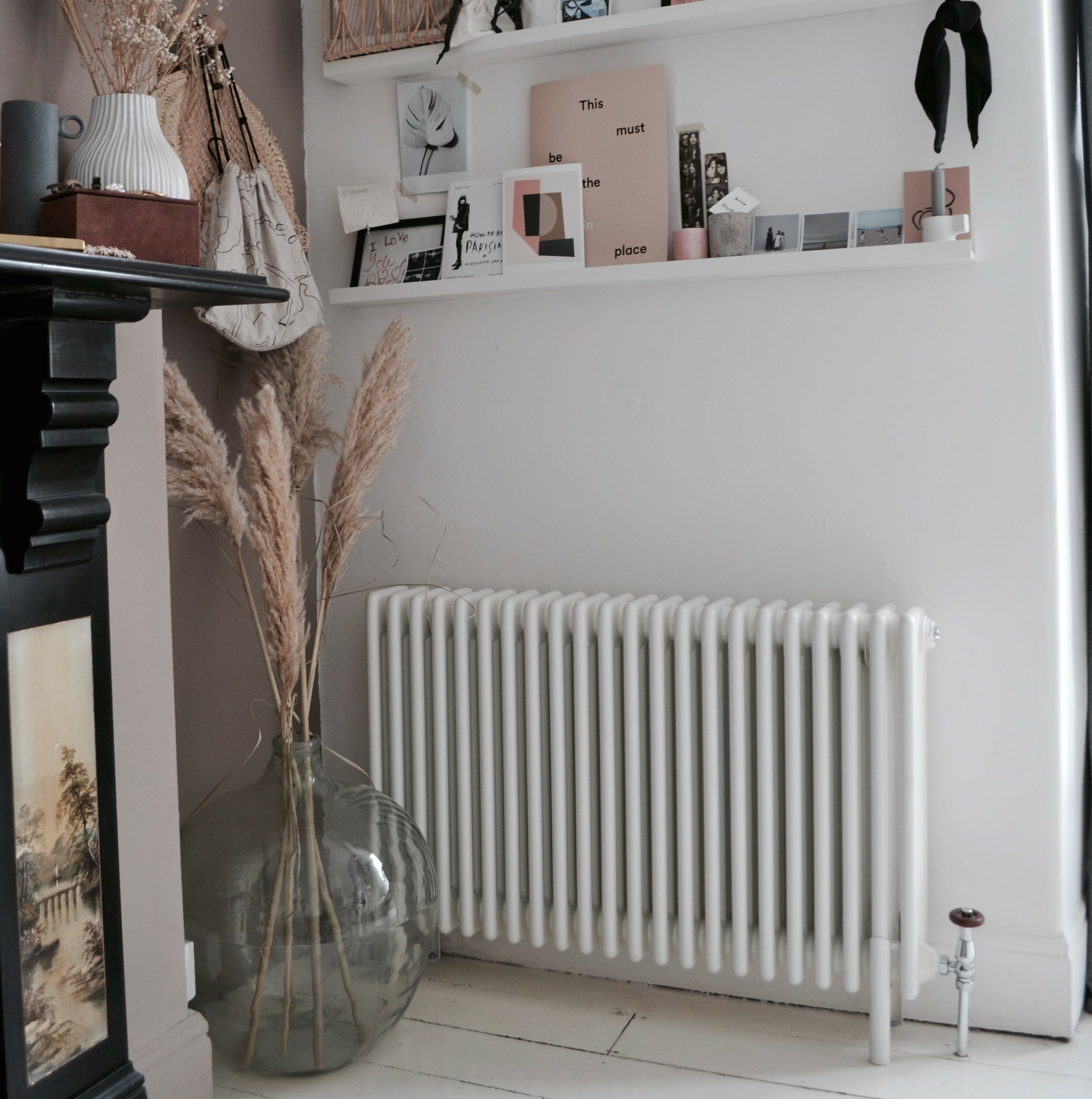 Milano Windsor column radiator on a white wall