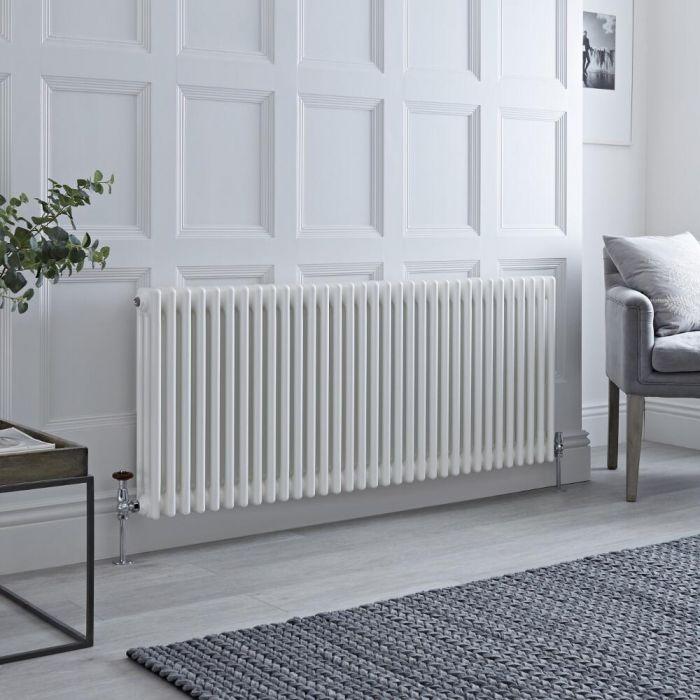 Milano Windsor 3 column radiator in white.