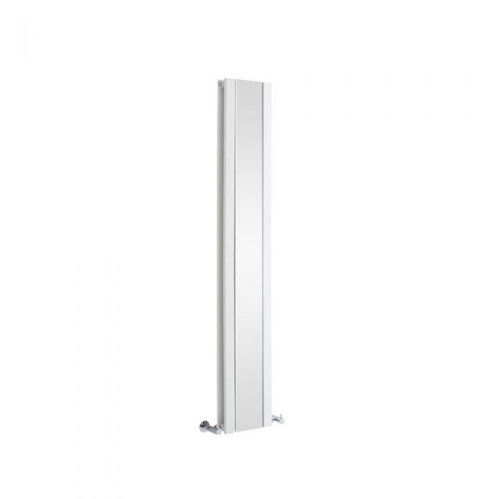 Milano Icon - White Vertical Mirrored Designer Radiator 1600mm x 265mm